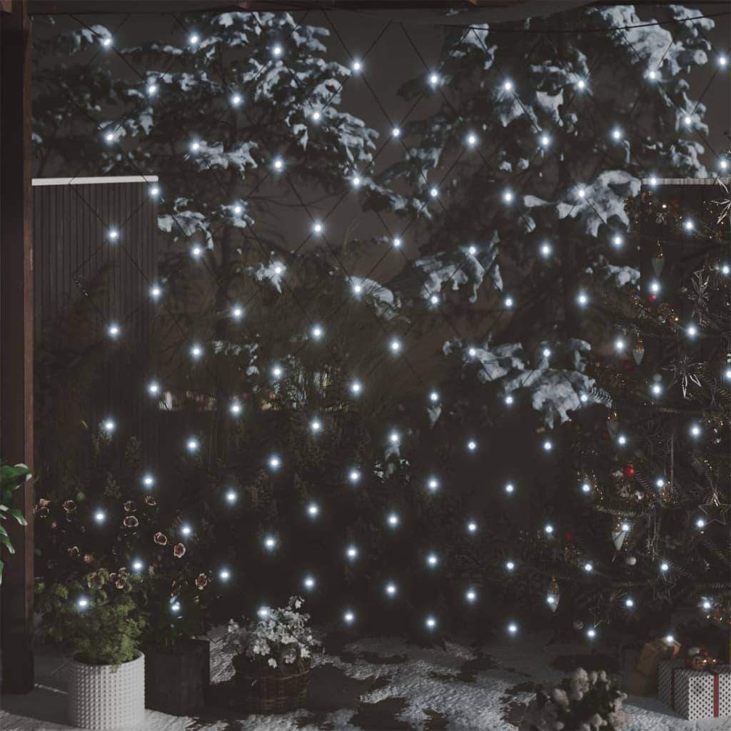 Vánoční světelná síť bílá 3 x 2 m 204 LED vnitřní i venkovní