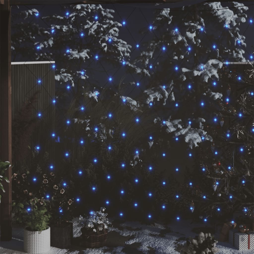 Vánoční světlená síť modrá 3 x 2 m 204 LED vnitřní i venkovní