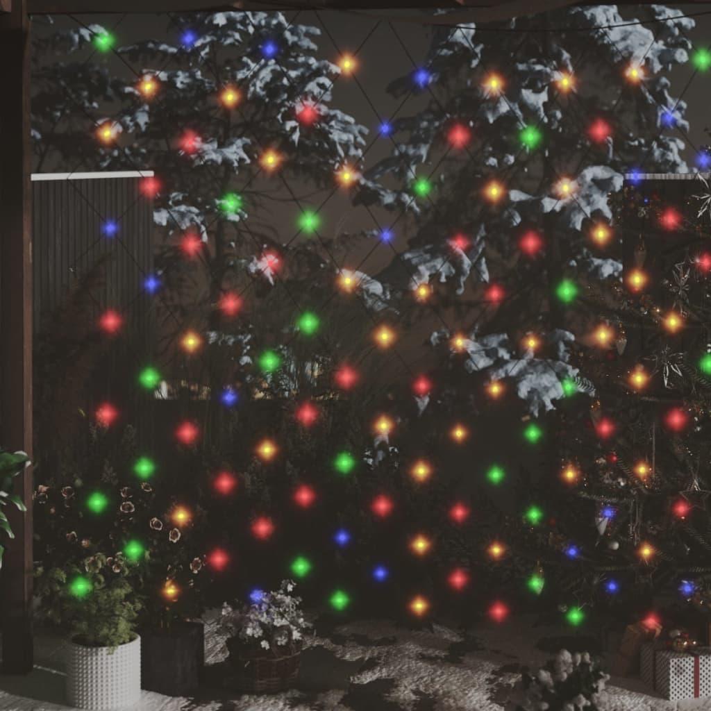 Vánoční světelná síť barevná 3 x 2 m 204 LED vnitřní i venkovní
