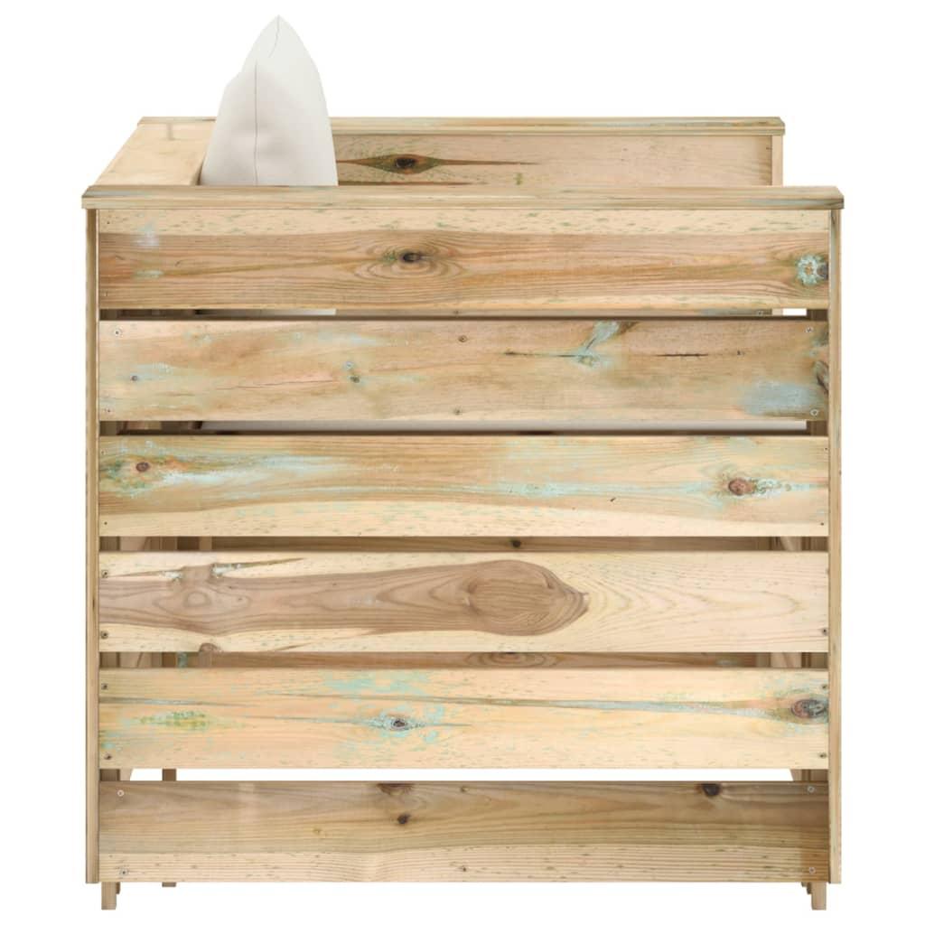2-delige Loungeset met kussens groen geïmpregneerd hout