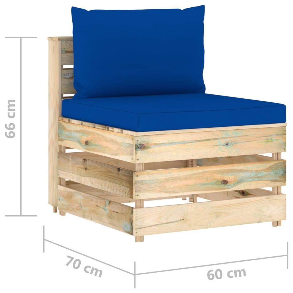 vidaXL 6-delige Loungeset met kussens groen geïmpregneerd hout