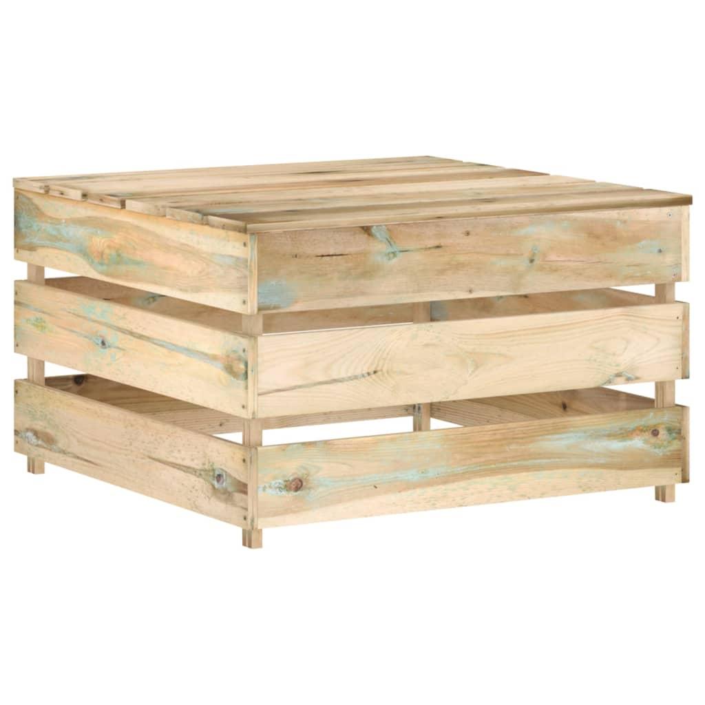 vidaXL 7-delige Loungeset met kussens groen geïmpregneerd hout