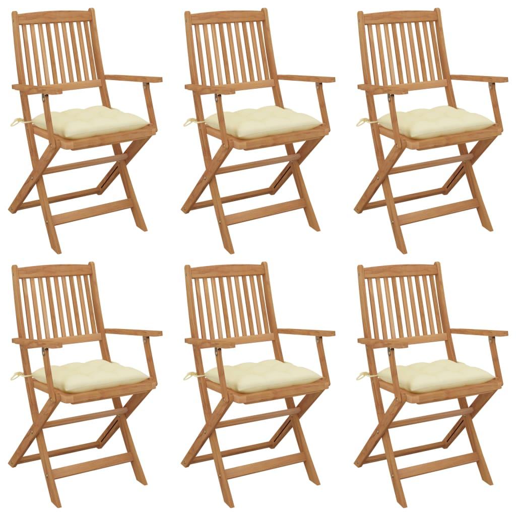 vidaXL Set mobilier exterior, scaune pliante, 7 piese, negru, aluminiu