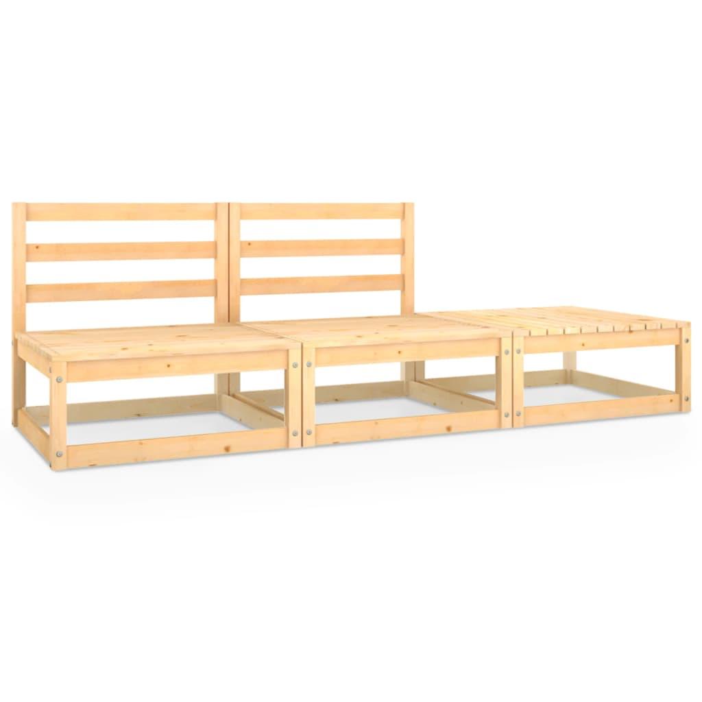 3dílná zahradní sedací souprava masivní borové dřevo