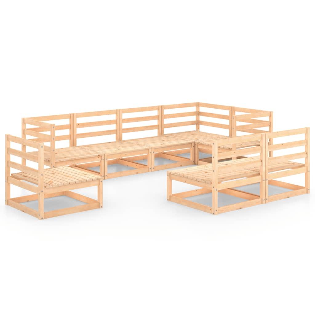 8-delige Loungeset massief grenenhout