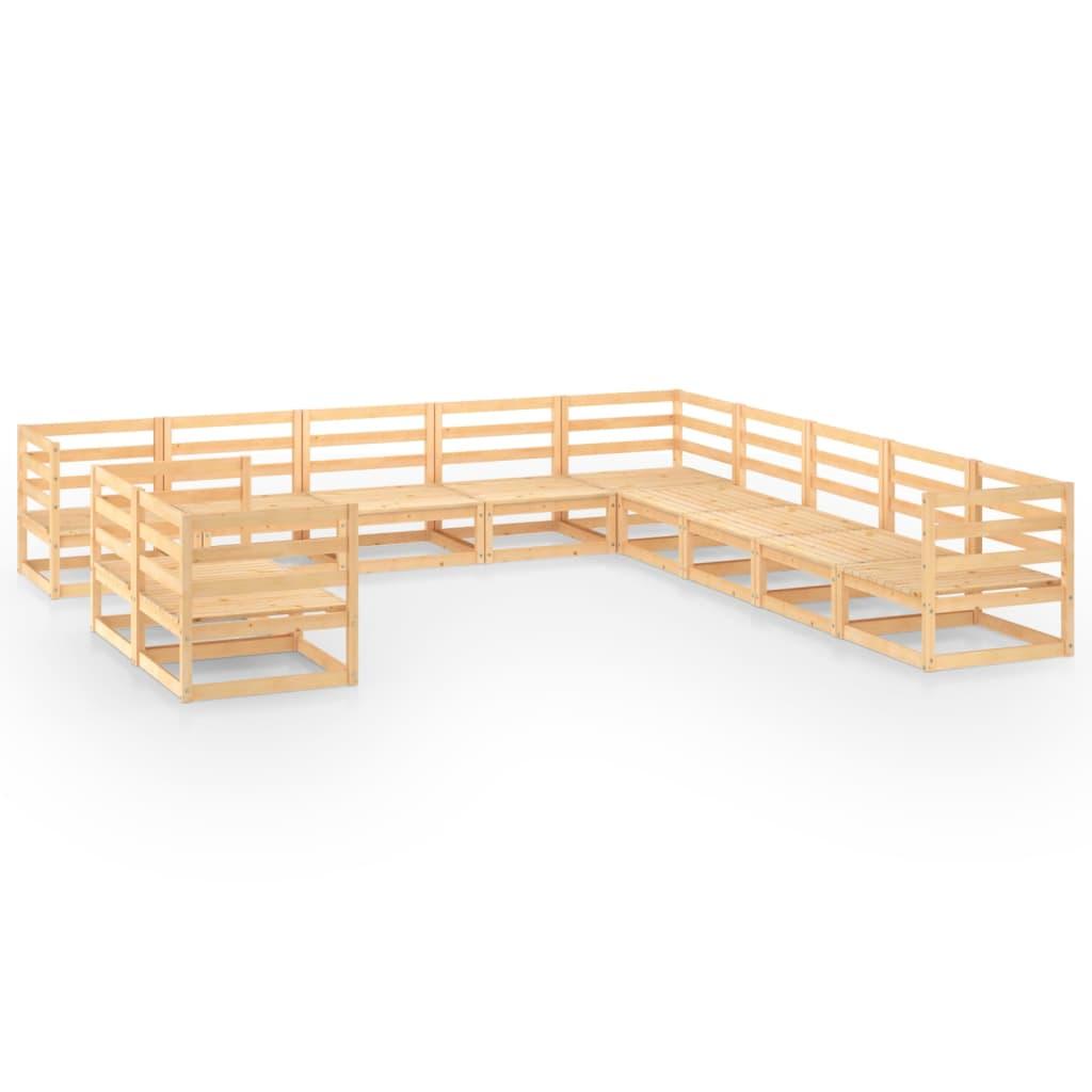 11-delige Loungeset massief grenenhout