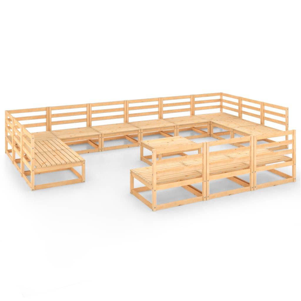 vidaXL 14-delige Loungeset massief grenenhout