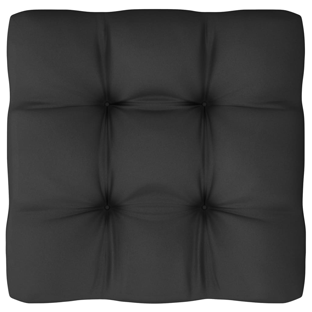 vidaXL 4-delige Loungeset met kussens massief grenenhout