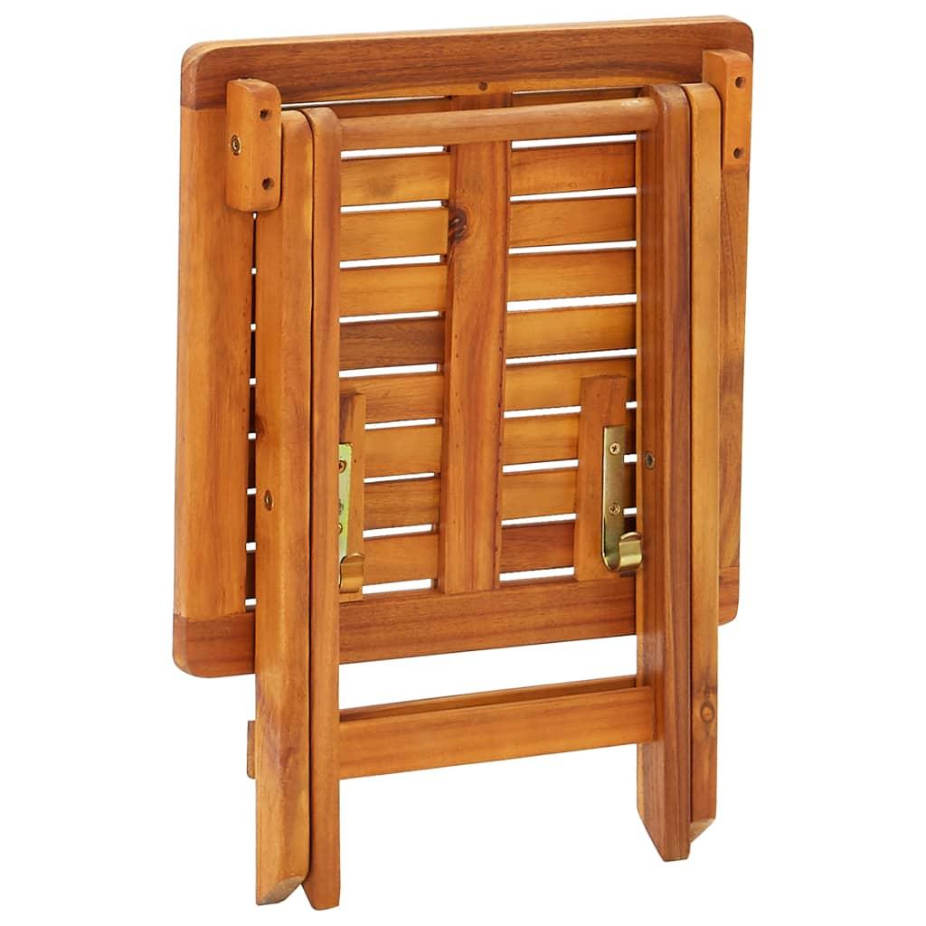 vidaXL Ligstoelen 2 st met tafel en kussens massief acaciahout