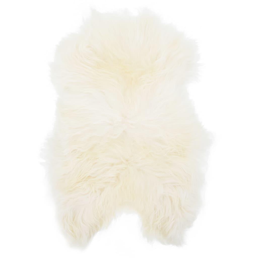 vidaXL Koberec z islandské ovčí kůže krémový 70 x 110 cm