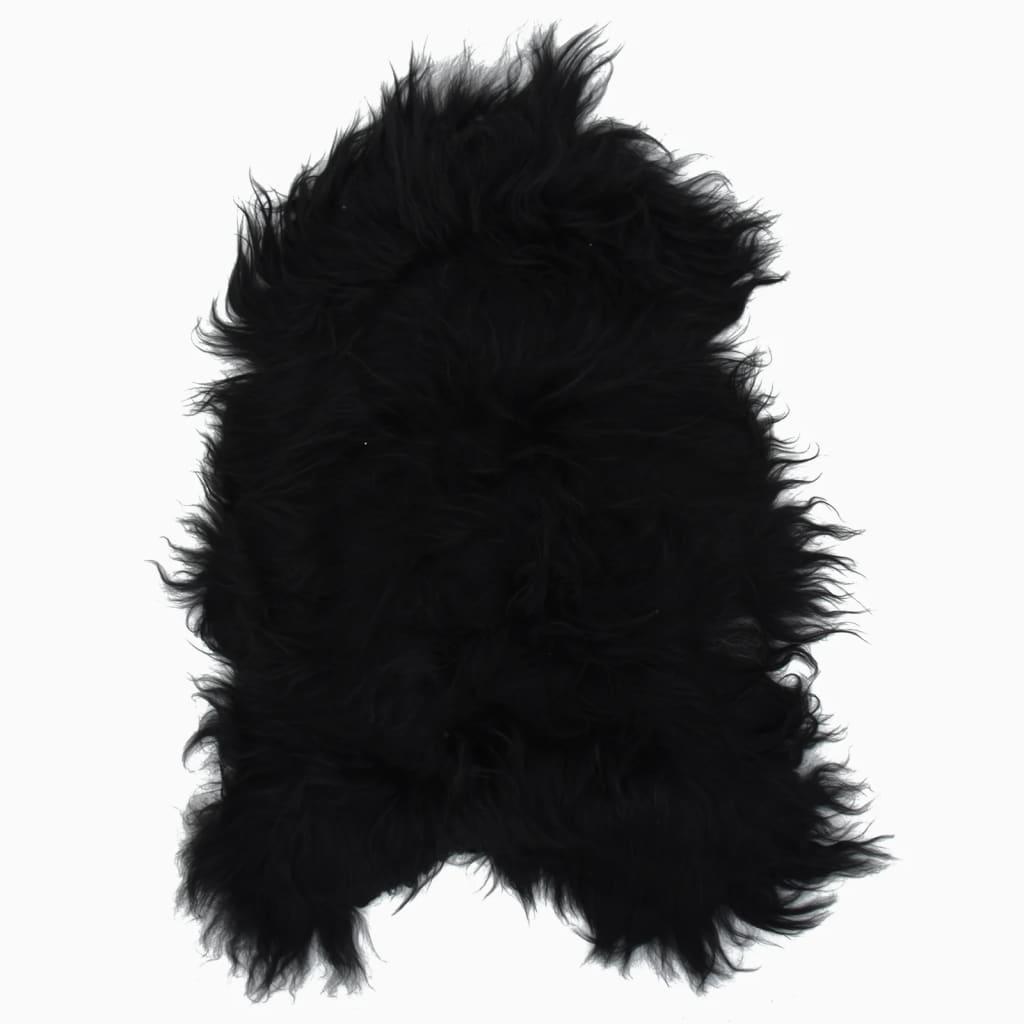 vidaXL Islandská ovčí kůže černá 70 x 110 cm