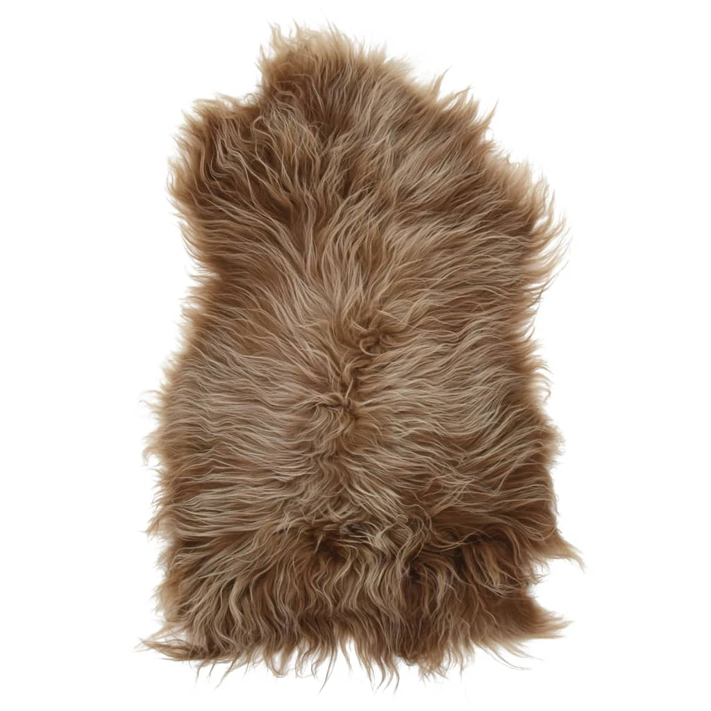 vidaXL Islandská ovčí kůže hnědá 70 x 110 cm
