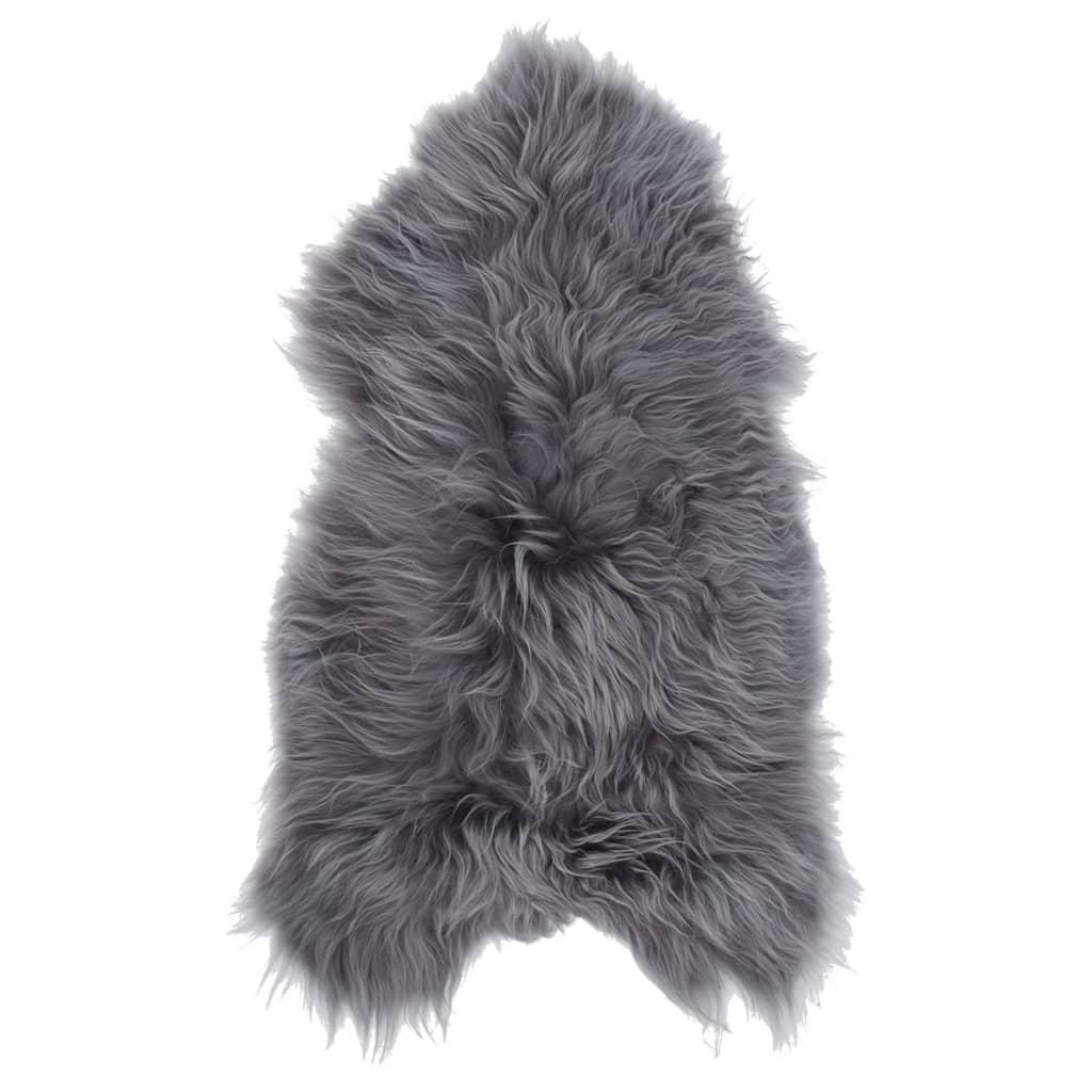 vidaXL Islandská ovčí kůže šedá 70 x 110 cm