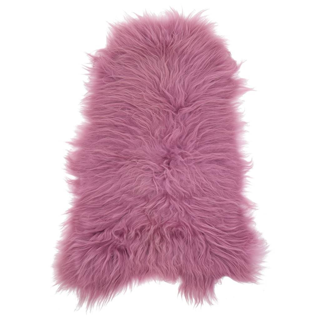 vidaXL Islandská ovčí kůže růžová 70 x 110 cm