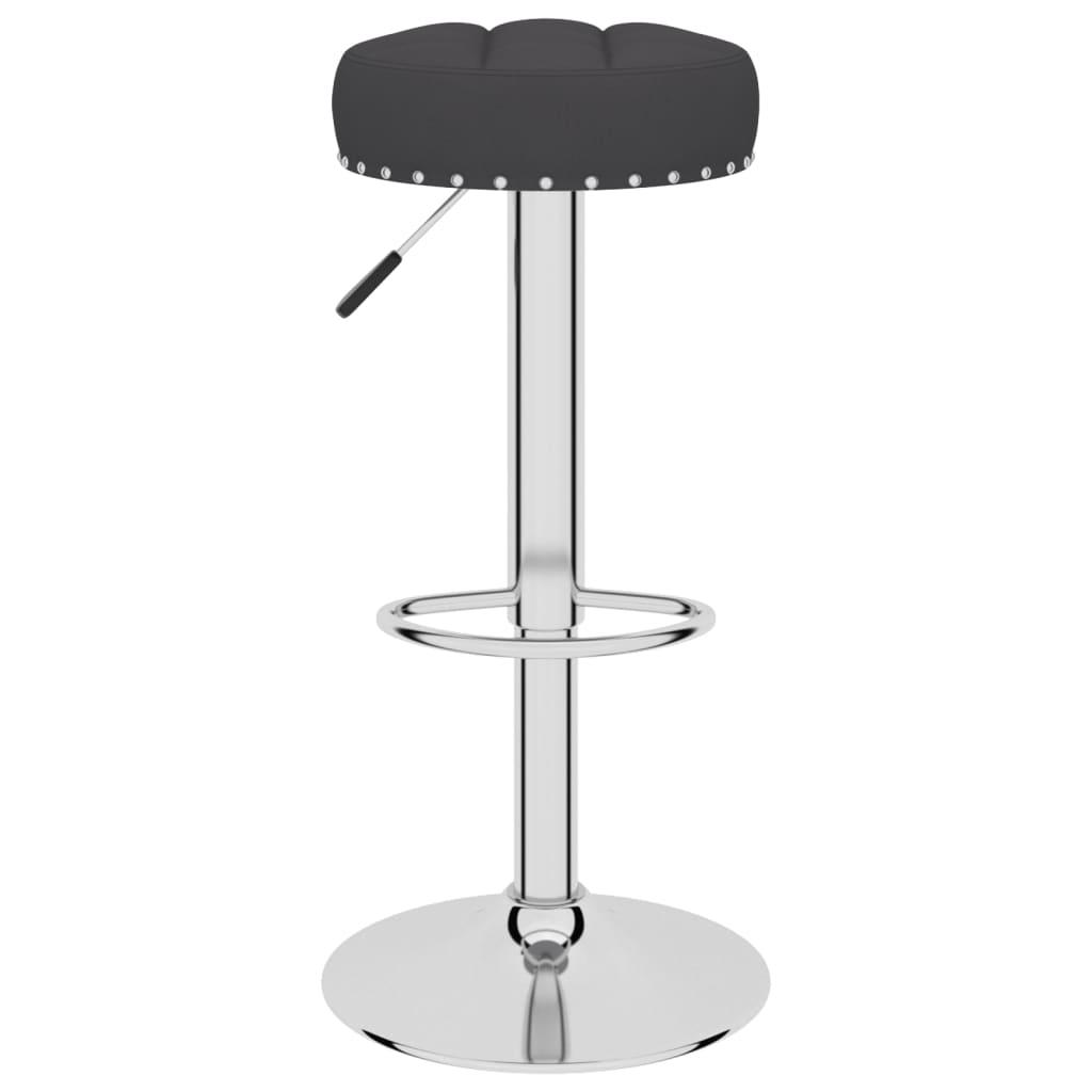 vidaXL Barkruk stof zwart