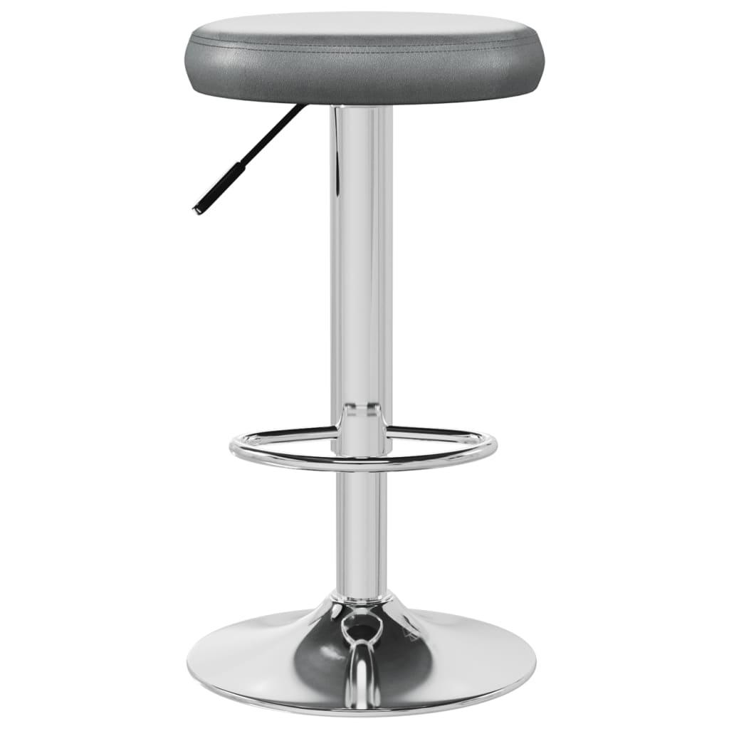 vidaXL Barkruk kunstleer grijs