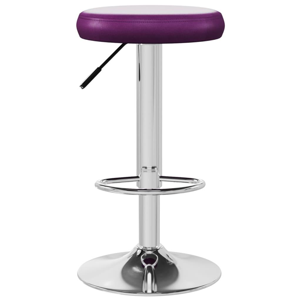 vidaXL Barkruk kunstleer paars