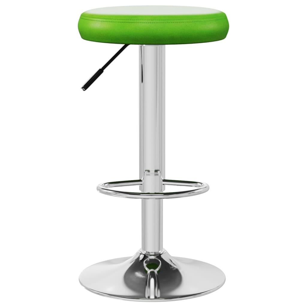 vidaXL Barkruk kunstleer groen