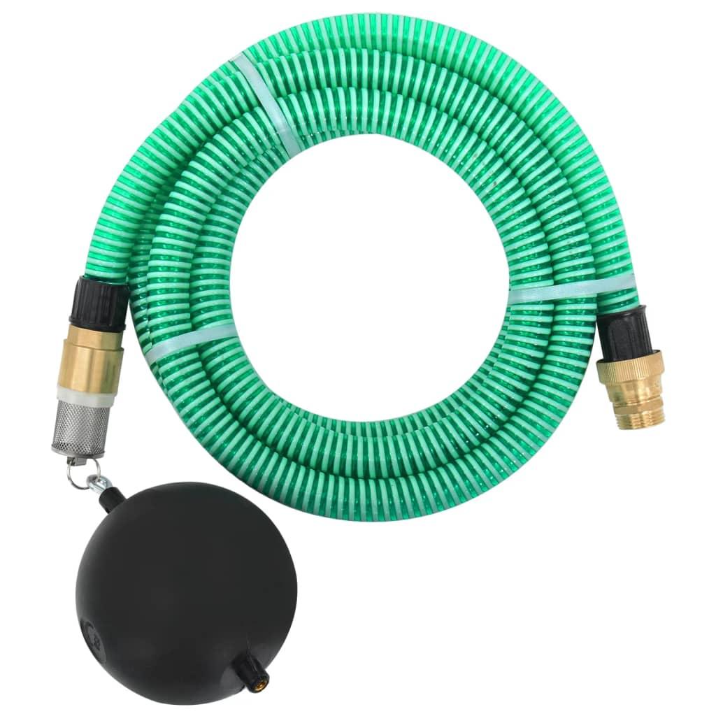 vidaXL Zuigslang met messing koppelingen 4 m 25 mm groen