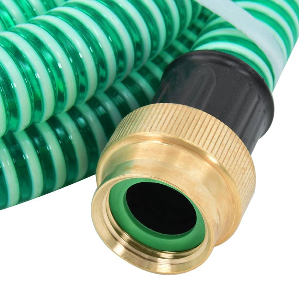 vidaXL Zuigslang met messing koppelingen 5 m 25 mm groen