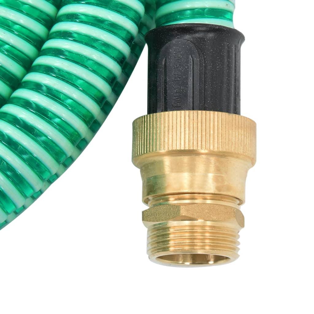 vidaXL Zuigslang met messing koppelingen 10 m 25 mm groen