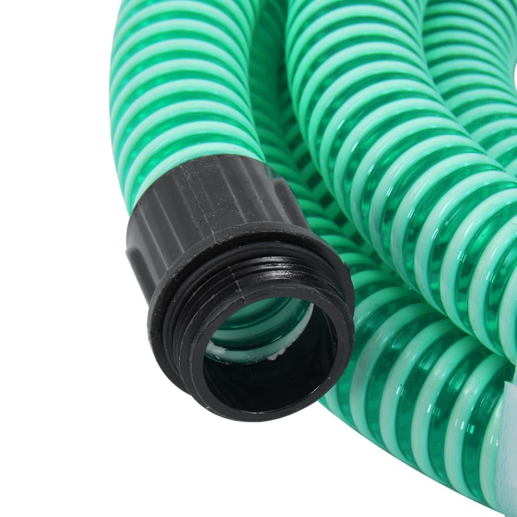 vidaXL Zuigslang met messing koppelingen 15 m 25 mm groen
