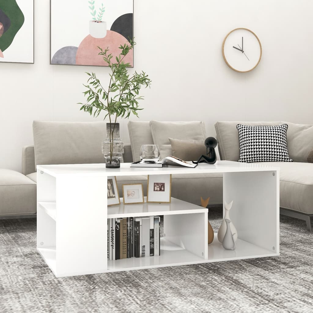 vidaXL Stolić za kavu bijeli 100 x 50 x 40 cm od iverice