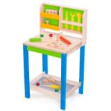 Wonderworld Banc de travail avec outils en jouet Bois Vert HOUT192438
