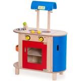 Wonderworld Centro para cocinar madera azul y rojo HOUT192443