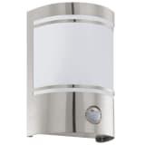 EGLO Luce da Parete Esterna con Sensore Cerno 40W Argento 30192