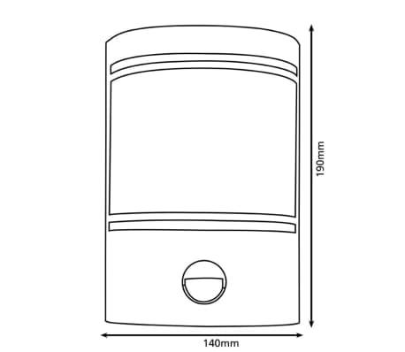 EGLO Applique murale d'extérieur Cerno avec capteur 40 W Argenté 30192[3/5]