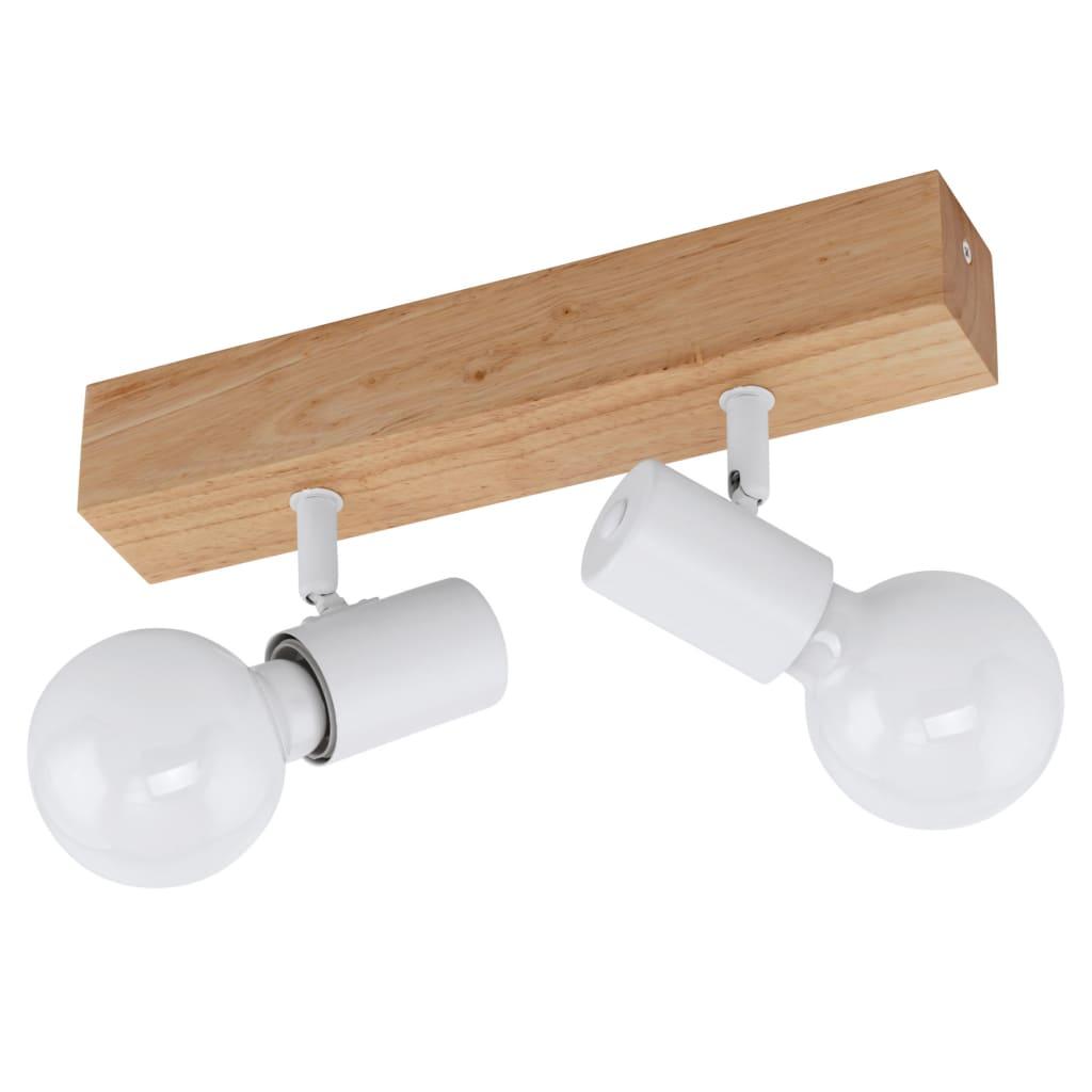 EGLO Reflektor LED Townshend 3, 2 żarówki, drewniany, biało-beżowy