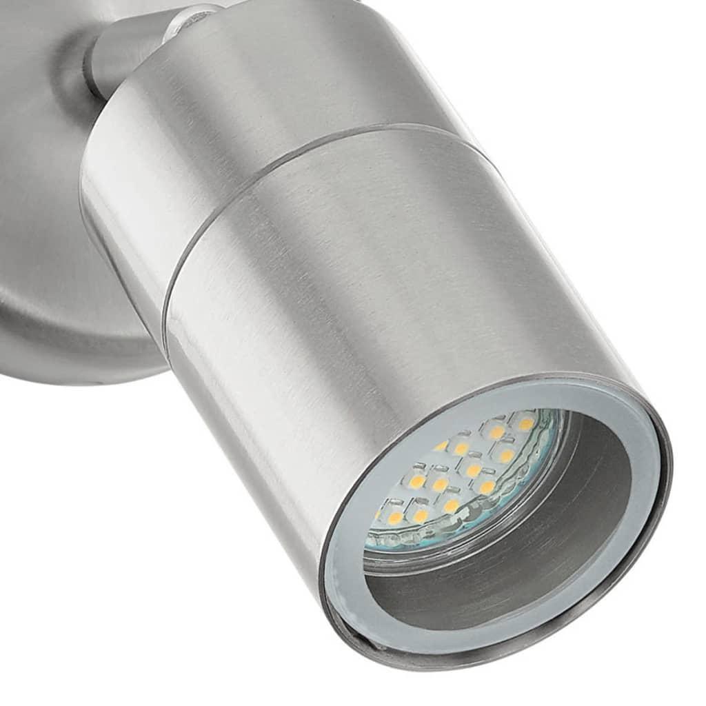 EGLO LED Wandlamp voor buiten Stockholm 5 W 1 zilver 93268