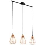Lámpara colgante de techo, color cobre 79 cm, EGLO Tarbes 94195