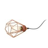 Lámpara de mesa color cobre, EGLO Tarbes 94197