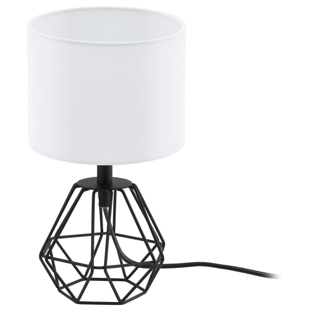 EGLO Lampă de masă Carlton 2, negru și alb vidaxl.ro