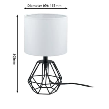 EGLO Bordslampa Carlton 2 svart och vit[3/5]