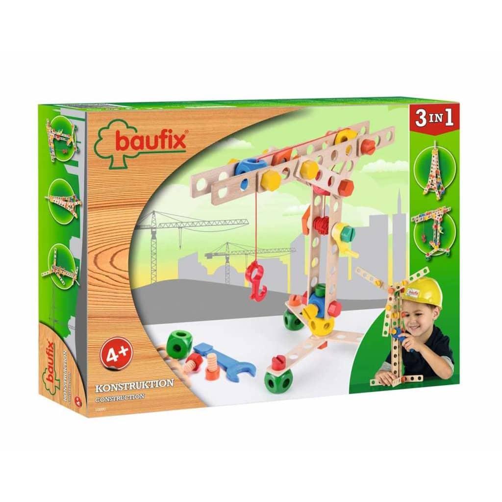 Afbeelding van Baufix houten Constructie speelgoed Set 3 in 1