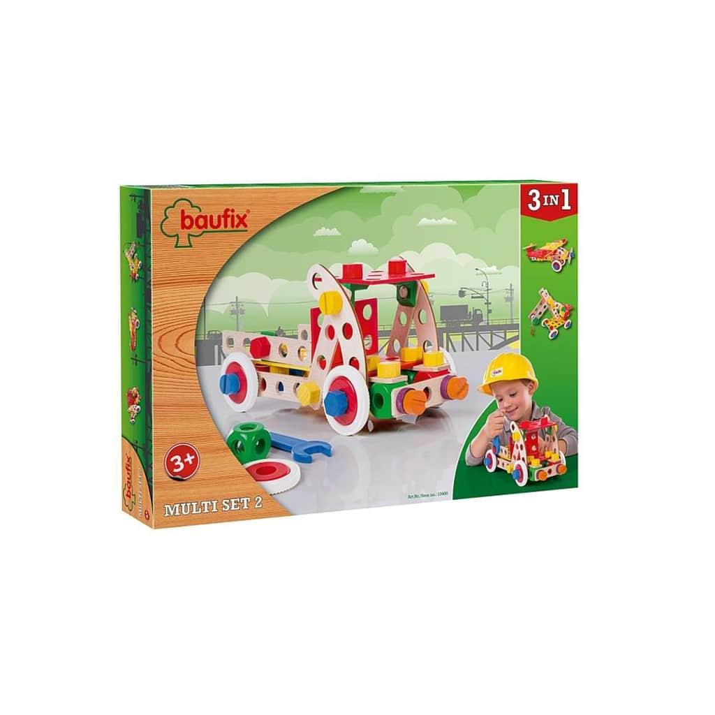 Afbeelding van Baufix houten constructie speelgoed Multi set 2, 95 delig