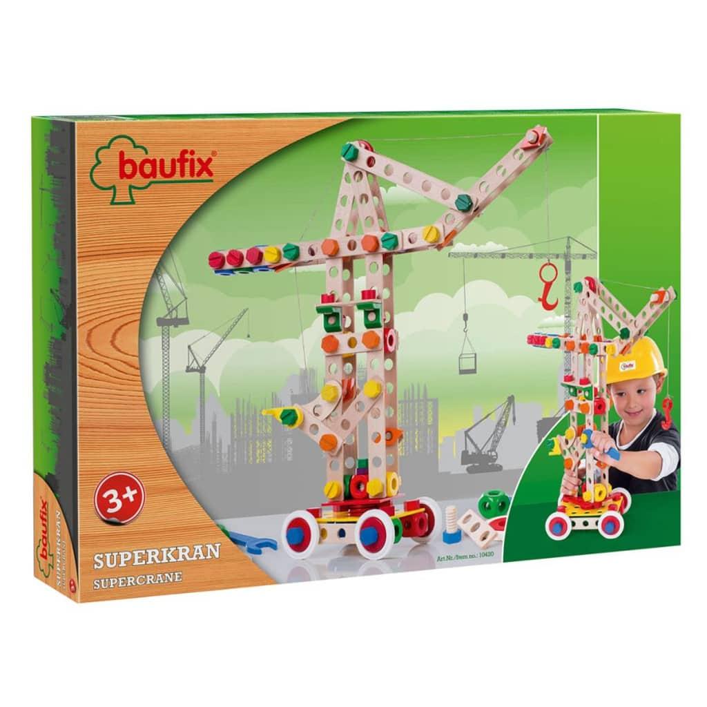 Afbeelding van Baufix houten constructie speelgoed Super Crane 10420