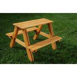 GASPO - Table pique-nique enfants en pin imprégné 80 x 80 x 48 cm