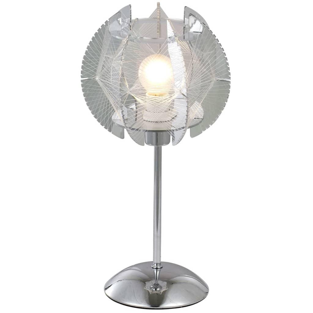 GLOBO Tafellamp POLLUX acryl chroom 21827