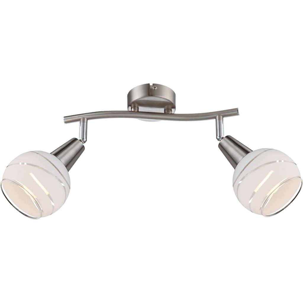 GLOBO LED-spotlys med 2 lyspærer ELLIOTT nikkel matt 54341-2