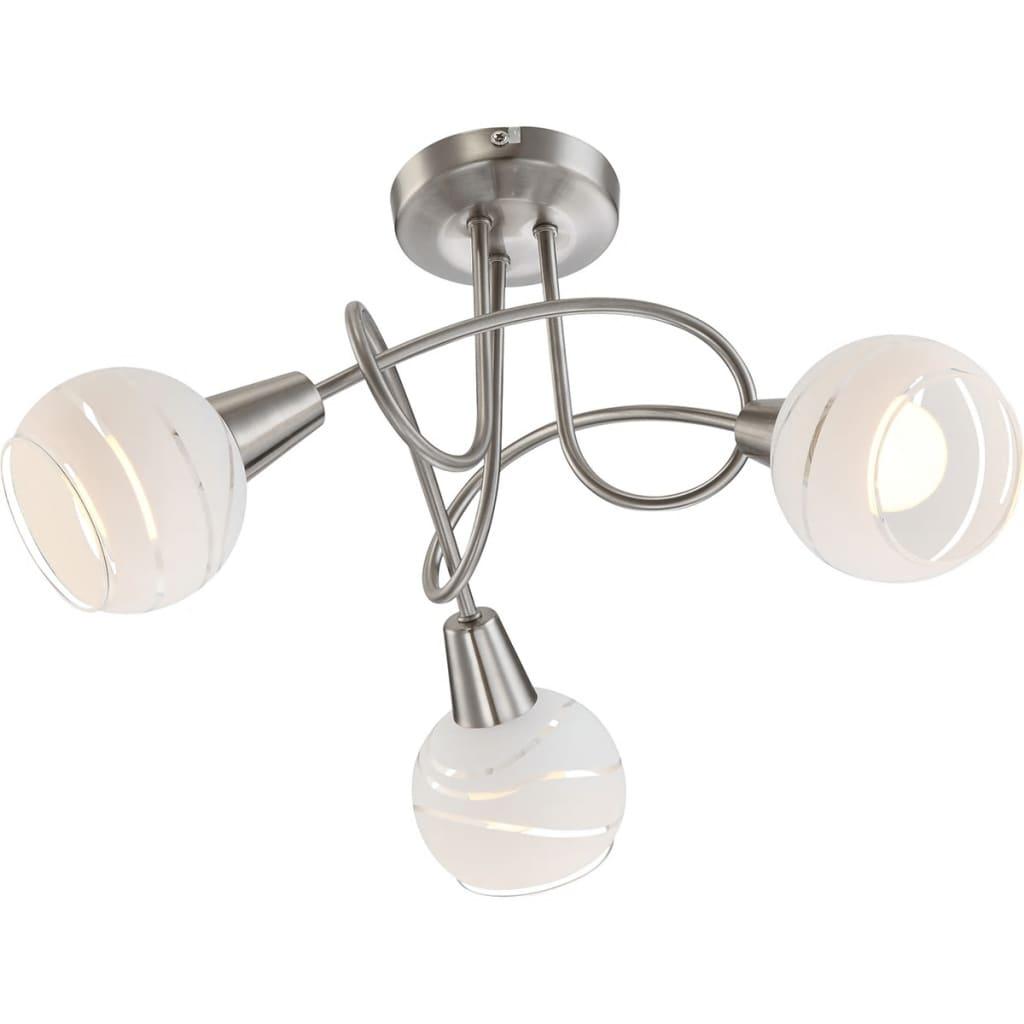 GLOBO LED-spotlys med 3 lyspærer ELLIOTT nikkel matt 54341-3