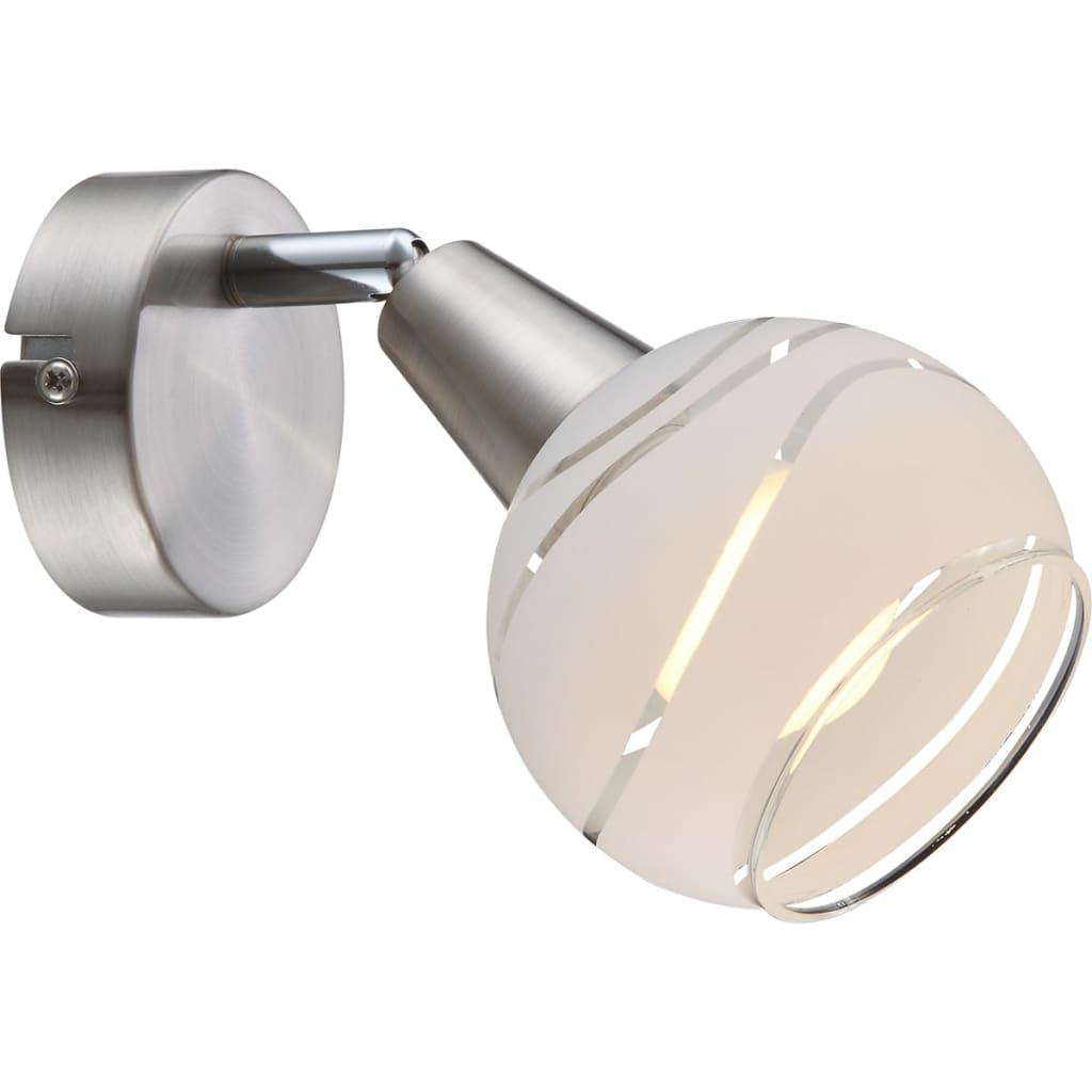 Afbeelding van GLOBO LED-spotlight ELLIOTT nikkel mat 54341-1