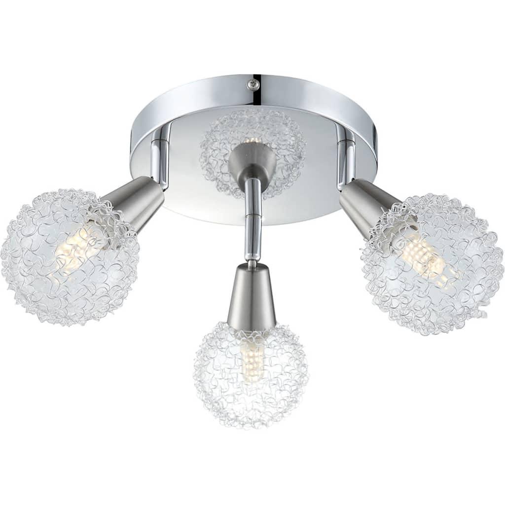 GLOBO LED-spotlys med 3 dioder CICER krom og nikkel 56039-3