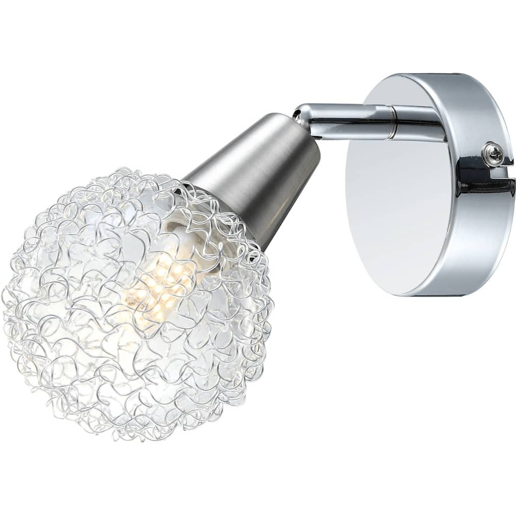 Afbeelding van GLOBO LED-spotlight CICER chroom en nikkel 56039-1