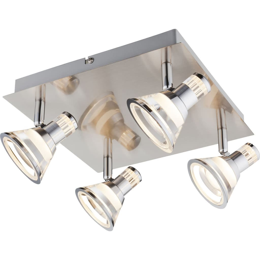 GLOBO LED-spotlight TAKIRO nikkel en acryl 56956-4