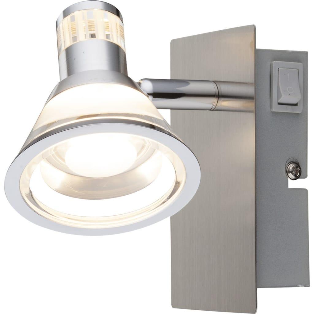 Afbeelding van GLOBO LED-spotlight TAKIRO nikkel en acryl 56956-1