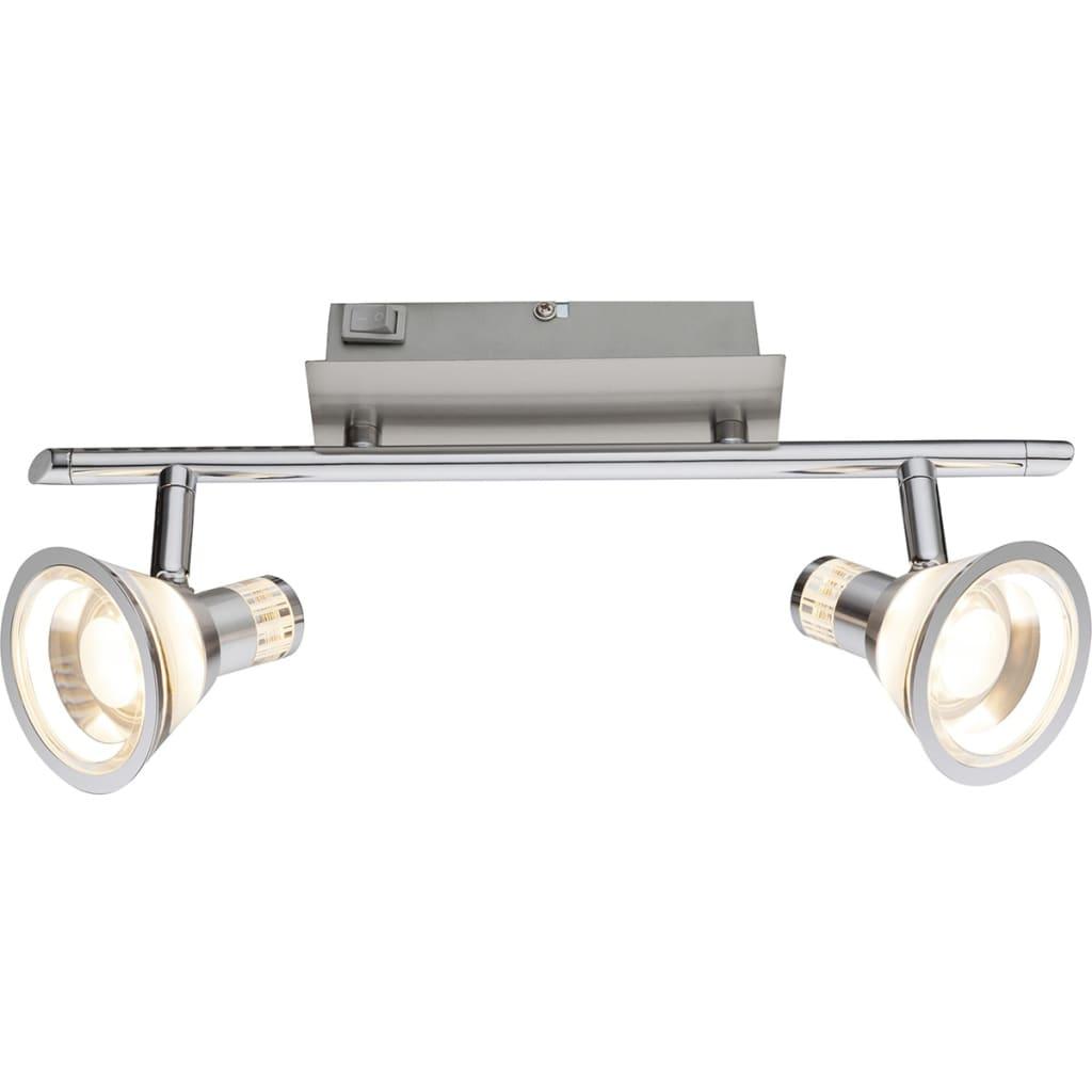 GLOBO LED-Strahler TAKIRO Nickel und Acryl 56956-2